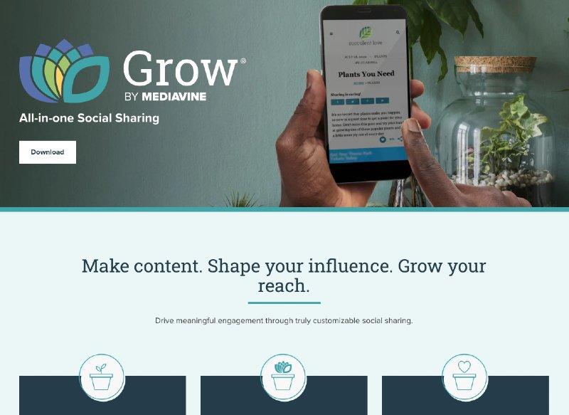 grow by mediavine social sharing plugin