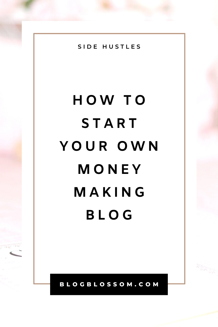 Looking to start a profitable side hustle and make extra money online this year? Follow my easy guide on how to start your own blog in minutes. Bluehost has affordable and reliable self-hosted plans that are perfect for beginners! | affiliate marketing | passive income streams | entrepreneur | make money online | web hosting | blogging tips | blog tips | wordpress | start a blog | side hustles