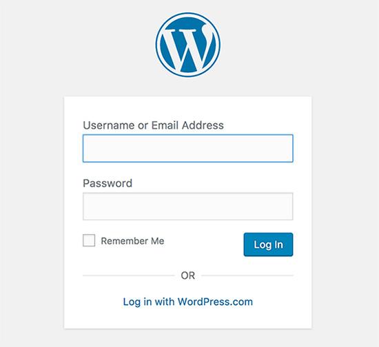 wordpress login