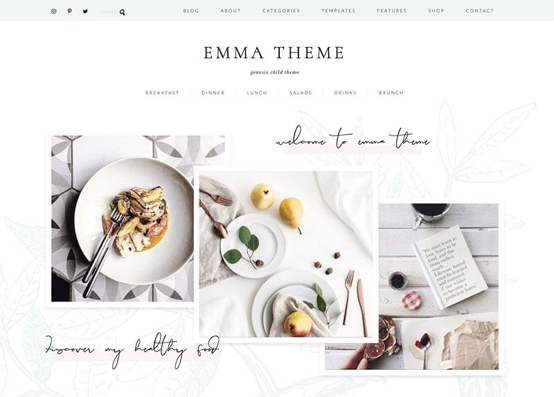 Emma wordpress theme