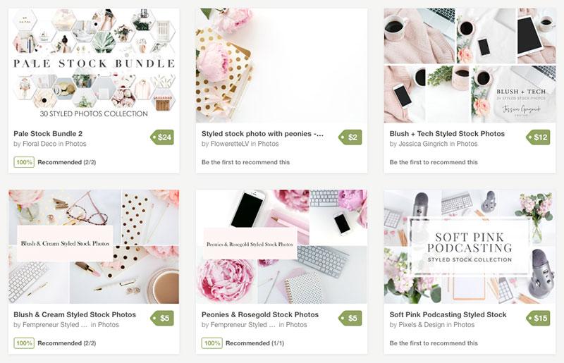 creative market feminine stock photos