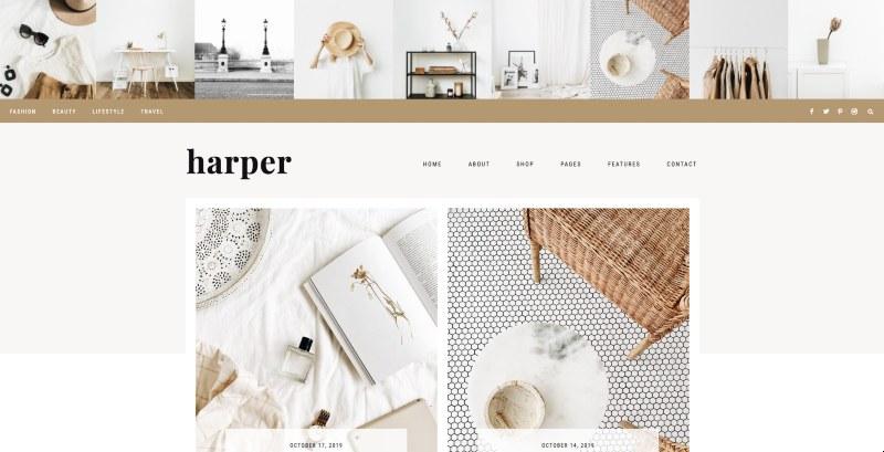 harper wordpress genesis theme