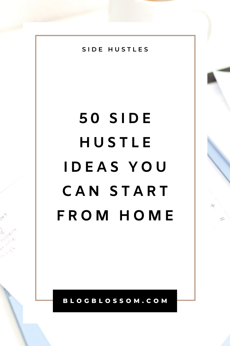 Wish you were able to make extra cash so that you can be more financially free? If you're looking to become an entrepreneur, start a side hustle, or become location independent & travel the world as a digital nomad, here are 40 work from home ideas you can start today. | earn extra money | start a business | business tips | business ideas | passive income | affiliate marketing #sidehustle #affiliatemarketing #entrepreneur #passiveincome #workfromhome #workfromhomejobs #makemoneyonline