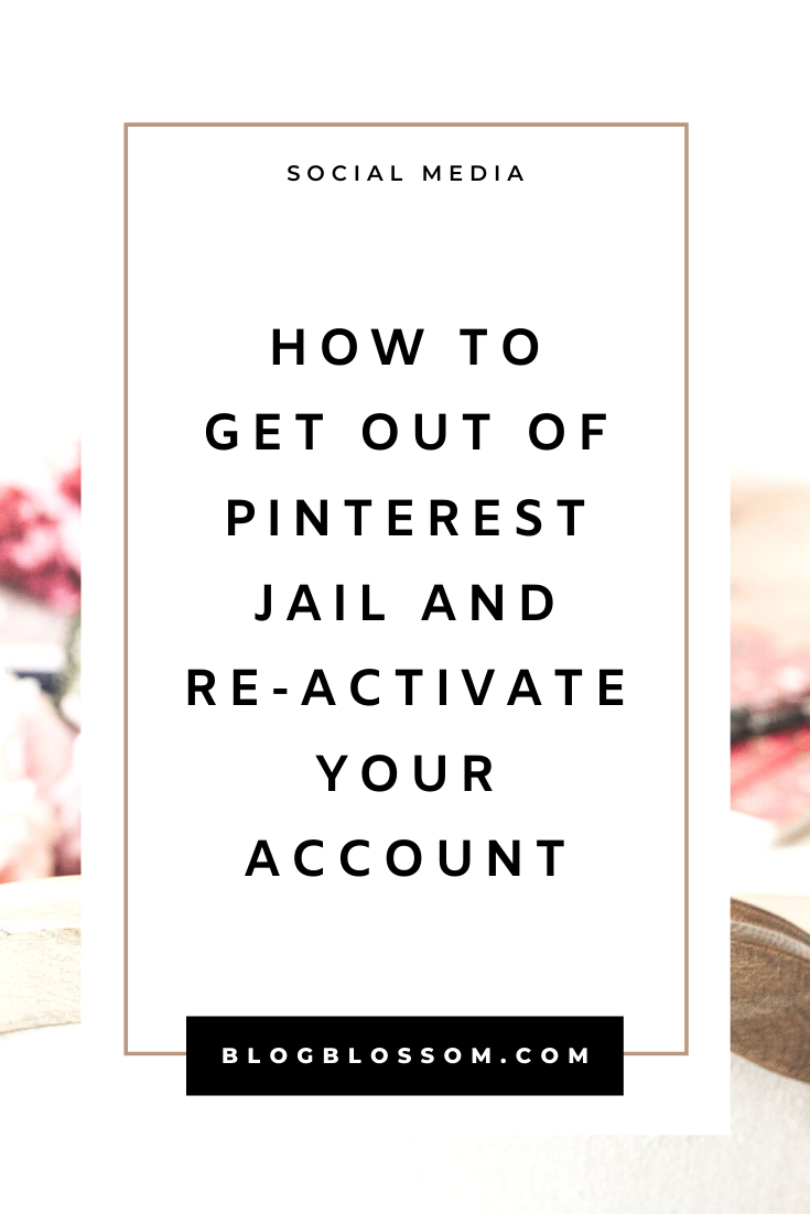 If you need help recovering your Pinterest account, here is how to get out and stay out of Pinterest jail when your account has been blocked.   pinterest tips   pinterest marketing   blogging tips   blog tips   grow your blog traffic   grow your blog with pinterest