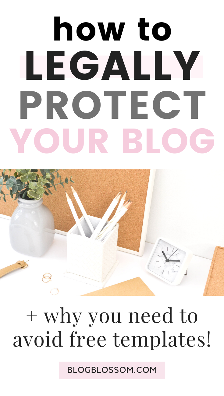 Protecting yourself as a blogger is important. Not having the right legal pages or using free policy templates can have serious consequences. In this post, I'll show you how to legally protect your blog with legal contracts. | disclaimer | privacy policy | terms and conditions | terms of service | terms of use | legal templates | entrepreneur | templates | legal bundle | legal documents | legal tips #bloggingtips #blogging #policies #legal #legalbundle #legaldocuments #laws