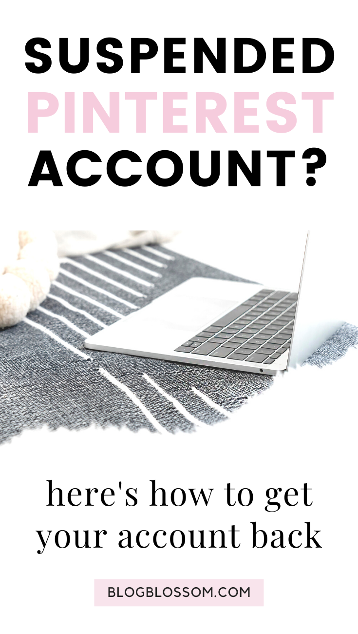 If you need help recovering your Pinterest account, here is how to get out and stay out of Pinterest jail when your account has been blocked.   pinterest tips   pinterest marketing   blogging tips   blog tips   grow your blog traffic   grow your blog with pinterest   reactivate your suspended pinterest account   pinterest account blocked