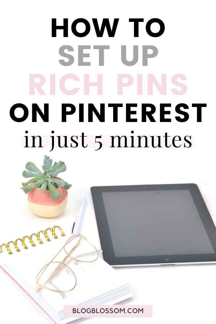 Rich Pins is essential to getting more eyes on your pins and ultimately increasing your blog traffic. Setting up rich pins is a simple process that only takes 5 minutes. Here is a simple tutorial on how to easily enable Rich Pins on your Pinterest account using WordPress.   blog tips   blogging tips   pinterest tips   pinterest marketing   social media marketing   grow your blog traffic   optimize your Pinterest account   grow your blog   pinterest for beginners   blogging for beginners