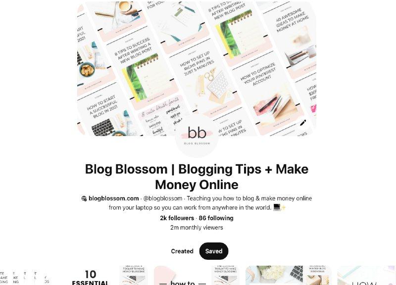 blogblossom 2 million pinterest monthly views