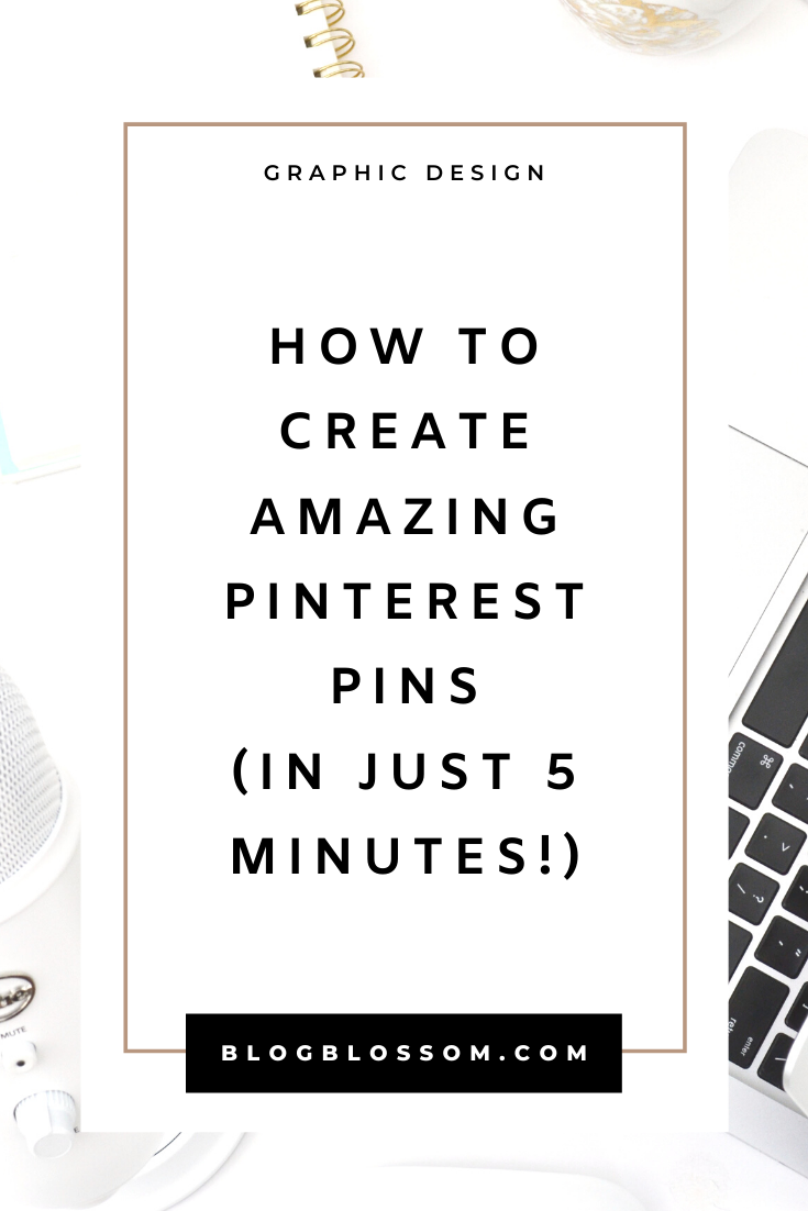Pinterest is a great platform to drive traffic. Need help creating pretty, eye-catching pins to drive traffic to your blog or sales to your online business? Don't fret if you don't have any experience with graphic design. In this post, I'll be teaching you how you can create your own beautiful pin designs in just 5 minutes.   pinterest tips   pinterest marketing   social media marketing   grow your blog traffic   pinterest for beginners   pinterest design