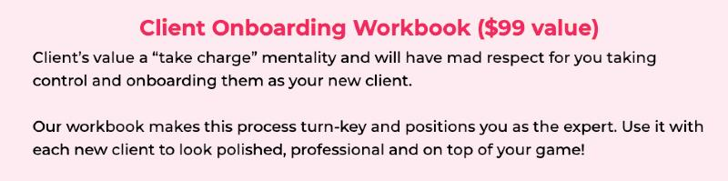 pinterest va bonuses - client onboarding workbook