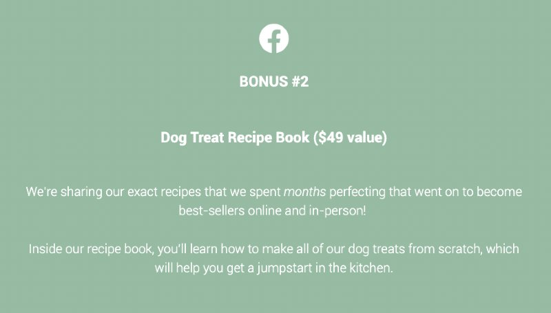 Diva Dog Bakery Course Bonus - Guaranteed Analysis and Nutrition Label