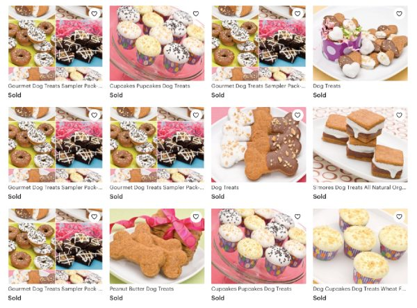 dog bakery treats on etsy with diva dog bakery