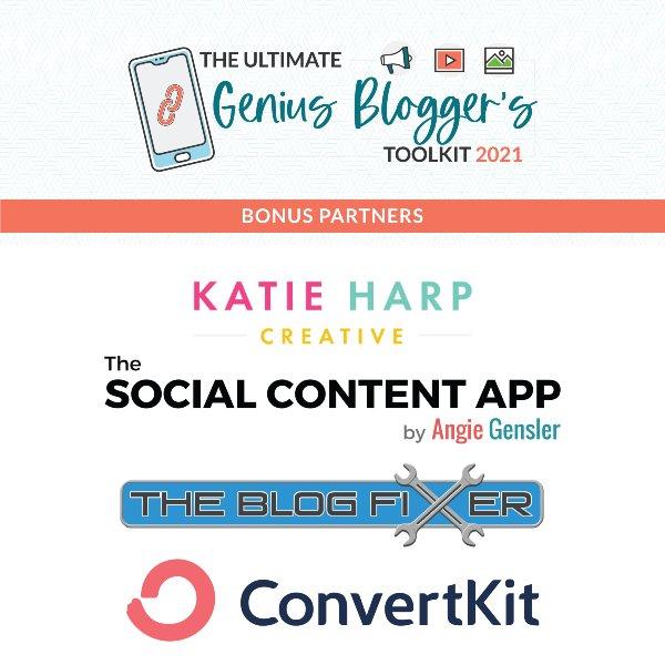 genius blogger's toolkit 2021 bonus partners