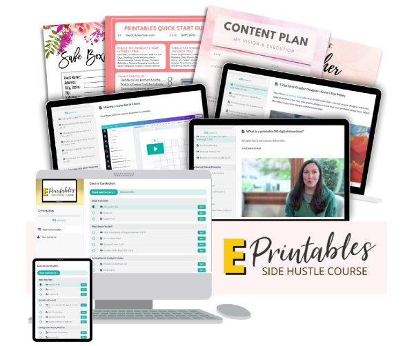 e-printables side hustle course