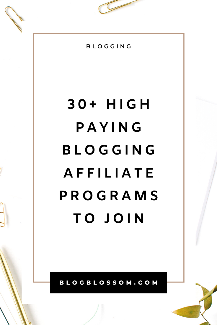 30 High-Paying Affiliate Programs For The Blogging Niche