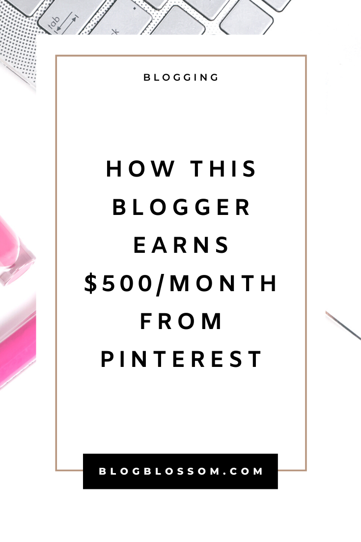 How This Blogger Makes $500+/Month From Pinterest Affiliate Marketing