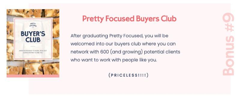 pretty focused course - bonus 9 - buyer's club