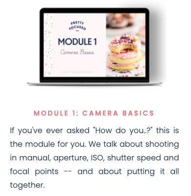 pretty focused course - module 1