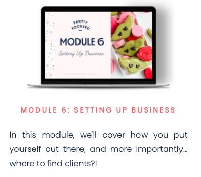 pretty focused course - module 6