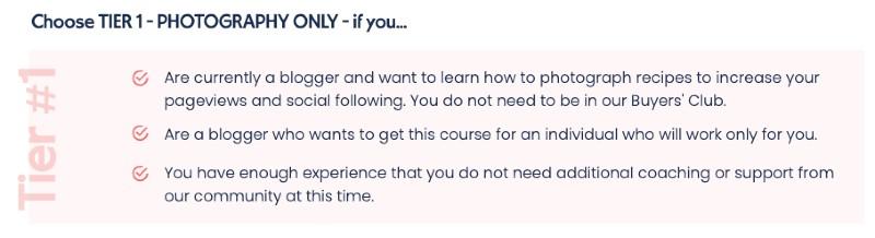 pretty focused course - tier 1